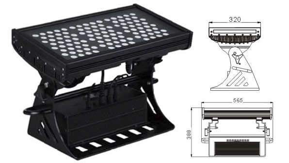 Led DMX argia,goi badia buru,250W IP65 RGB karratua LED uholde argia 1, LWW-10-108P, KARNAR INTERNATIONAL GROUP LTD