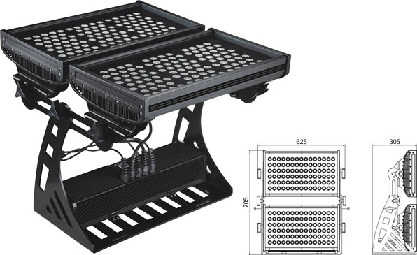Led DMX argia,buru argizaria,250W IP65 RGB karratua LED uholde argia 2, LWW-10-206P, KARNAR INTERNATIONAL GROUP LTD
