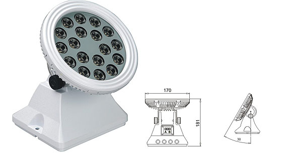 Led DMX argia,goi badia buru,25W 48W LED korapiloko paretaren garbigailua 1, LWW-6-18P, KARNAR INTERNATIONAL GROUP LTD