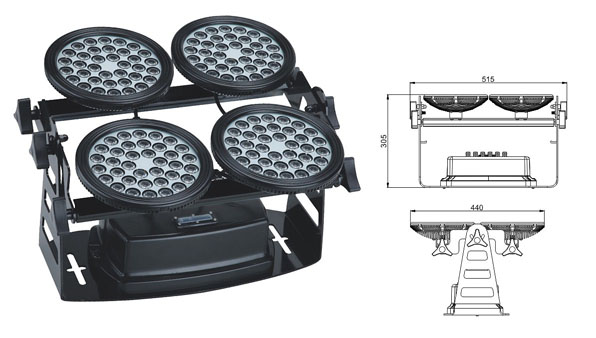 Led DMX argia,argi industrial buru,155W LED horma-garbigailua 1, LWW-8-144P, KARNAR INTERNATIONAL GROUP LTD