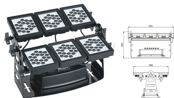Led DMX argia,argi industrial buru,220W LED koordenatu karratua 1, LWW-9-108P, KARNAR INTERNATIONAL GROUP LTD