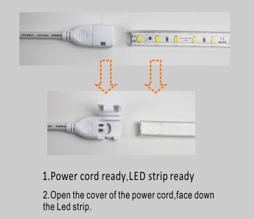 Led DMX argia,malgua led strip,110V AC No Wire SMD 5730 LED ROPE LIGHT 5, install_1, KARNAR INTERNATIONAL GROUP LTD