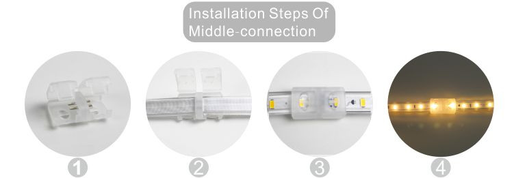 Led DMX argia,malgua led strip,110V AC No Wire SMD 5730 LED ROPE LIGHT 10, install_6, KARNAR INTERNATIONAL GROUP LTD